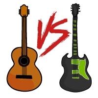 Akustikgitarre oder E-Gitarre