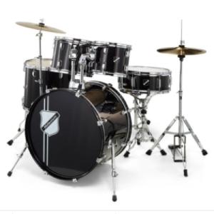 Anfängerschlagzeug Millenium Focus 20 Drum Set Black